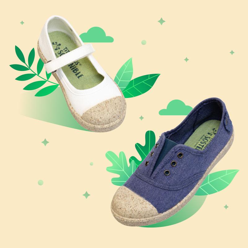Zapatos sostenibles para niños y niñas de hoy